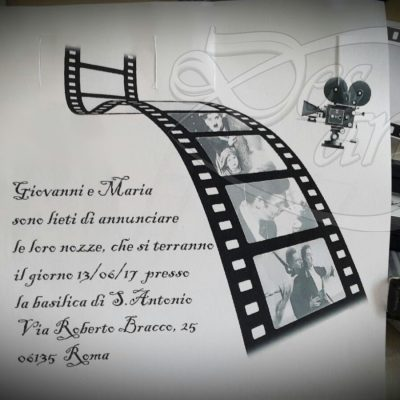 Tema matrimonio cinema particolare dell'interno