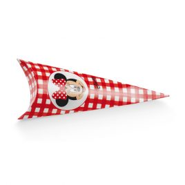 Scatolina Portaconfetti Conetto  Minnie Fleur Red 10pz