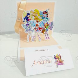 "Invito pop up per feste - tema ""The Winx"""