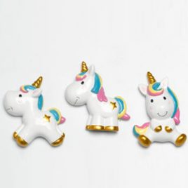 Set 12pz Unicorno Magnete 7 cm multicolor
