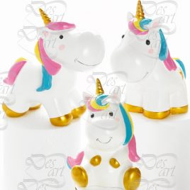 Unicorno Salvadanaio Set 3pz mod.Assortiti