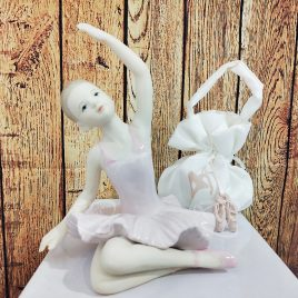 Set da 2 Ballerine in porcellana cm 16,5
